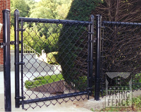 Chain Link Installation Galvanized Viking Fence Of Atlanta