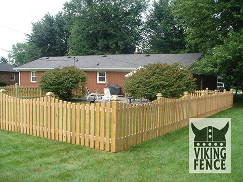 Wood Picket Fence Installation Decorative Viking Fence